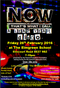 Leap Year Disco poster