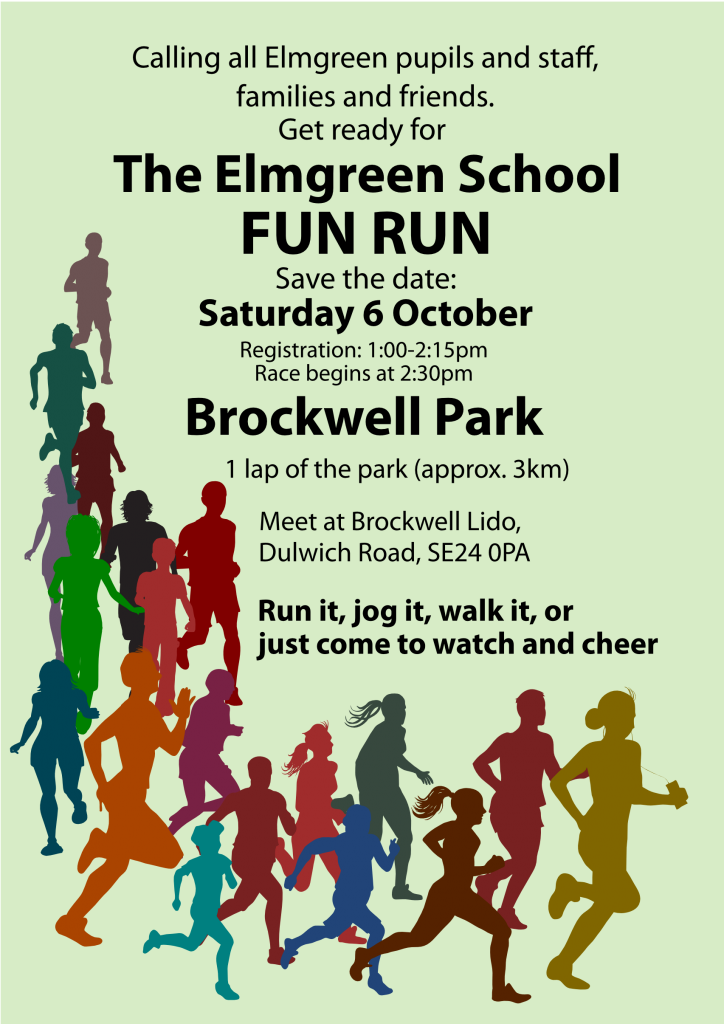 Fun Run, Brockwell Park, 1:00pm, meet Brockwell Lido